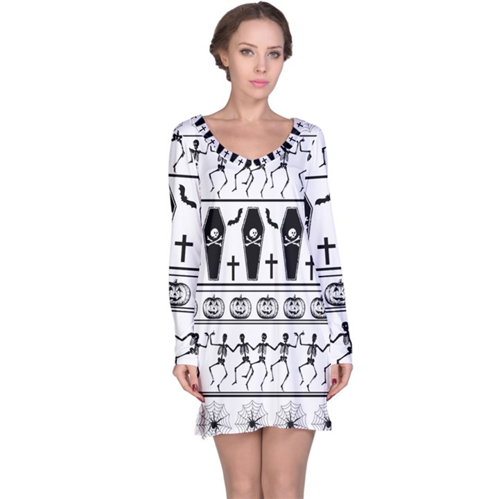Halloween pattern Long Sleeve Nightdress