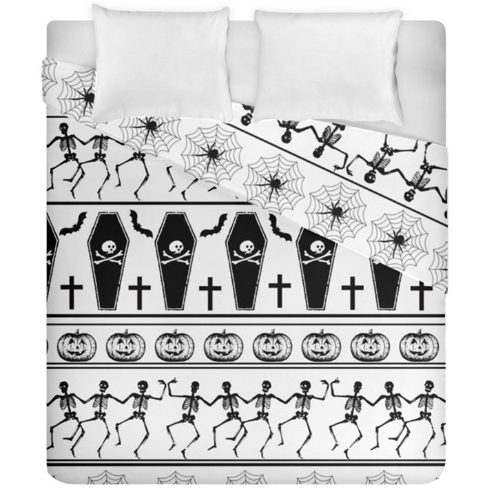 Halloween pattern Duvet Cover Double Side (California King Size)
