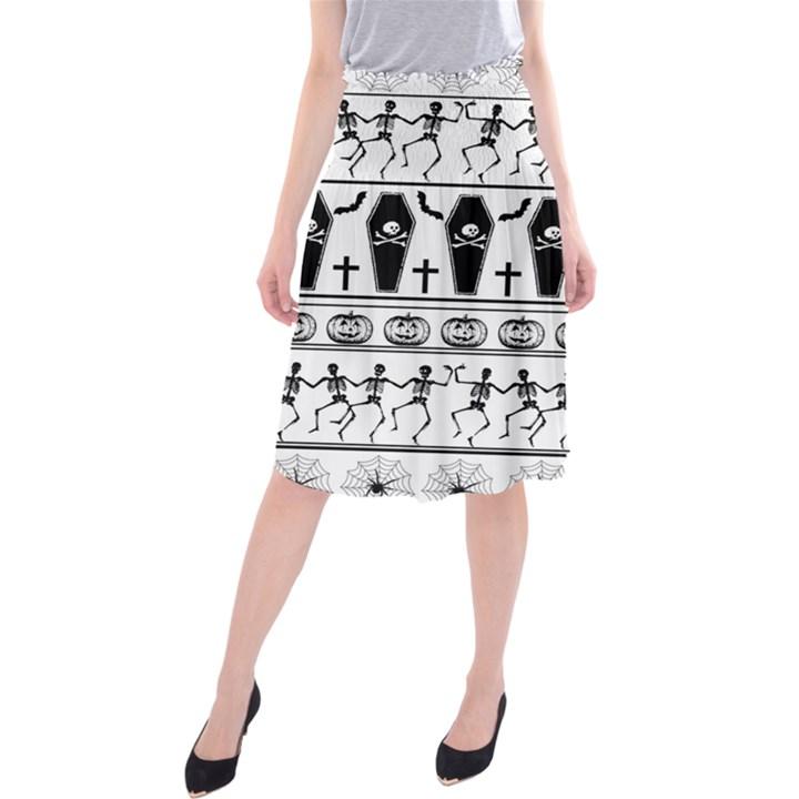 Halloween pattern Midi Beach Skirt