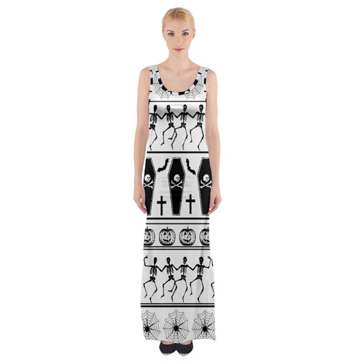 Halloween pattern Maxi Thigh Split Dress