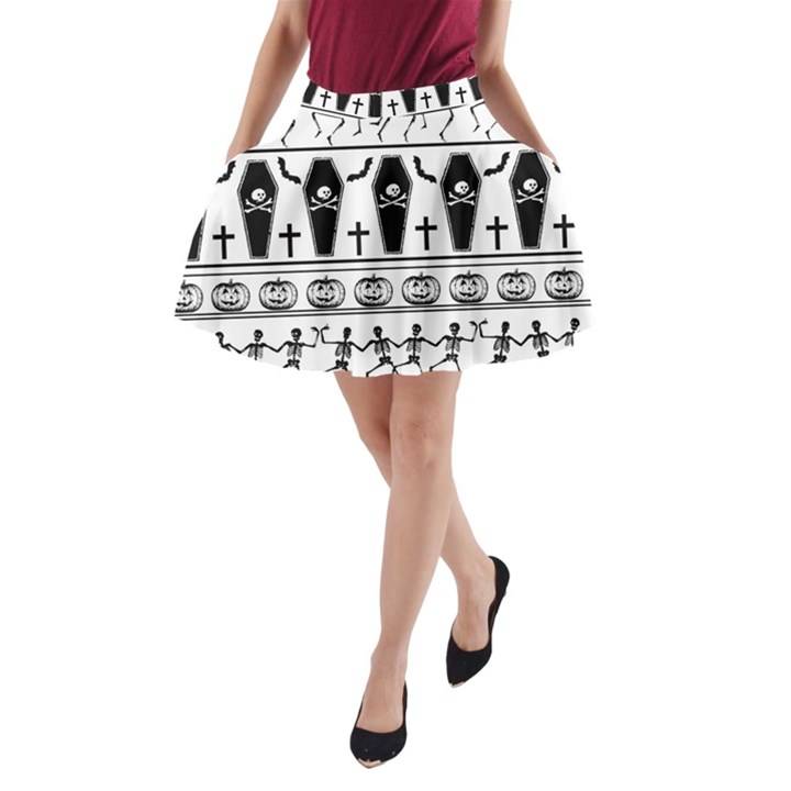 Halloween pattern A-Line Pocket Skirt