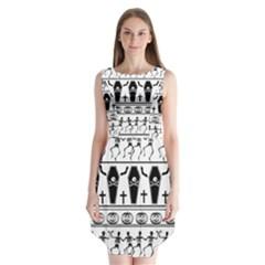Halloween Pattern Sleeveless Chiffon Dress