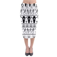 Halloween Pattern Midi Pencil Skirt