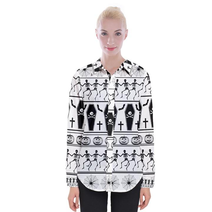 Halloween pattern Womens Long Sleeve Shirt