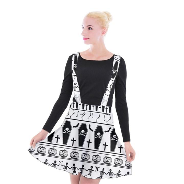 Halloween pattern Suspender Skater Skirt