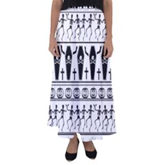Halloween Pattern Flared Maxi Skirt