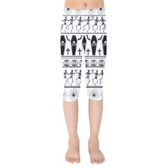 Halloween Pattern Kids  Capri Leggings
