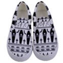 Halloween pattern Kids  Canvas Slip Ons View1