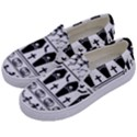 Halloween pattern Kids  Canvas Slip Ons View2