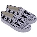 Halloween pattern Kids  Canvas Slip Ons View3