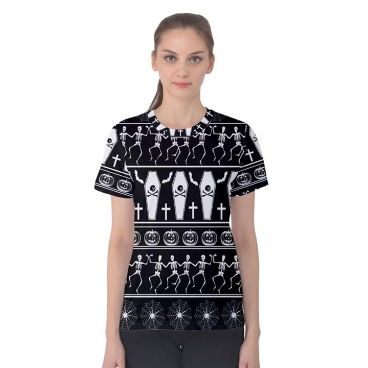 Halloween pattern Women s Cotton Tee