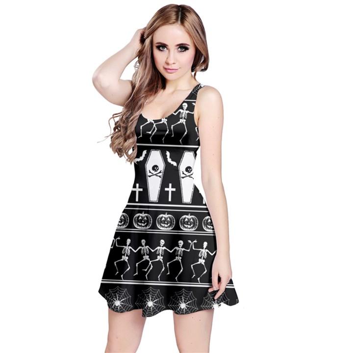Halloween pattern Reversible Sleeveless Dress