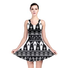 Halloween Pattern Reversible Skater Dress