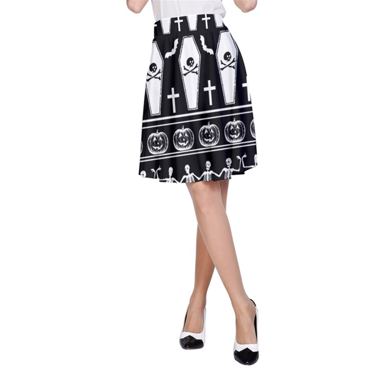 Halloween pattern A-Line Skirt