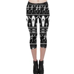 Halloween Pattern Capri Leggings