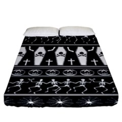 Halloween Pattern Fitted Sheet (california King Size)