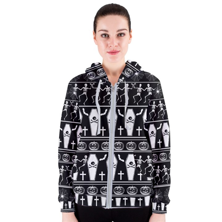 Halloween pattern Women s Zipper Hoodie