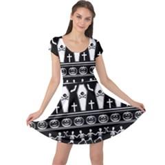 Halloween Pattern Cap Sleeve Dress