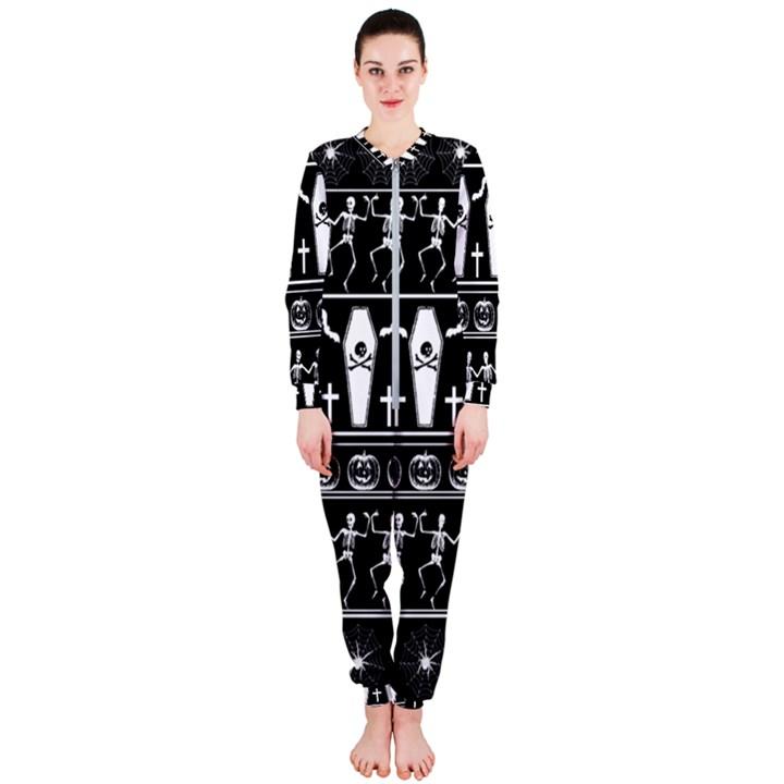 Halloween pattern OnePiece Jumpsuit (Ladies)