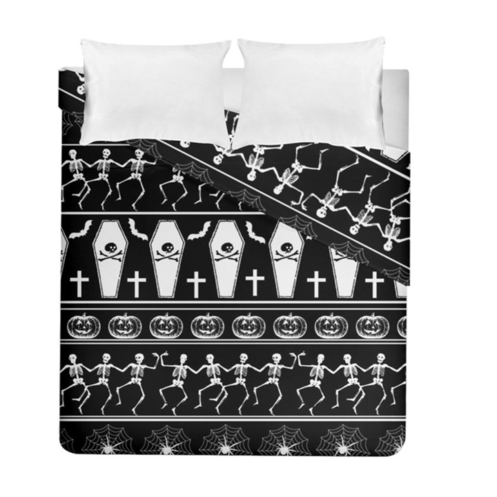 Halloween pattern Duvet Cover Double Side (Full/ Double Size)