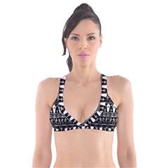 Halloween Pattern Plunge Bikini Top