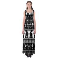 Halloween Pattern Empire Waist Maxi Dress
