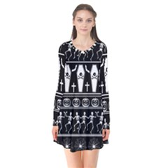 Halloween Pattern Flare Dress