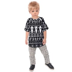 Halloween Pattern Kids Raglan Tee