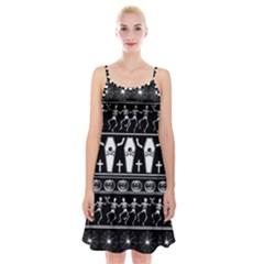 Halloween Pattern Spaghetti Strap Velvet Dress