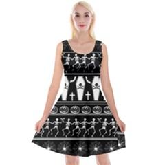 Halloween Pattern Reversible Velvet Sleeveless Dress