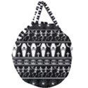 Halloween pattern Giant Round Zipper Tote View1