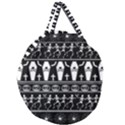 Halloween pattern Giant Round Zipper Tote View2