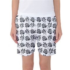 Vintage Roses Women s Basketball Shorts