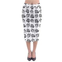 Vintage Roses Midi Pencil Skirt