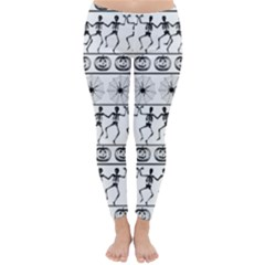 Halloween Pattern Classic Winter Leggings