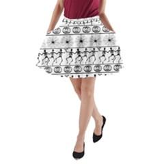 Halloween Pattern A Line Pocket Skirt