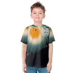 Halloween Landscape Kids  Cotton Tee
