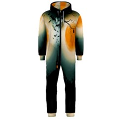 Halloween Landscape Hooded Jumpsuit (men)
