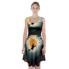 Halloween Landscape Racerback Midi Dress