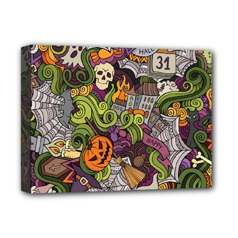 Halloween Pattern Deluxe Canvas 16  X 12