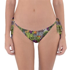Halloween Pattern Reversible Bikini Bottom