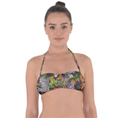 Halloween Pattern Halter Bandeau Bikini Top