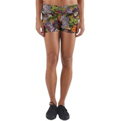 Halloween Pattern Yoga Shorts