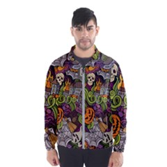 Halloween Pattern Wind Breaker (men)