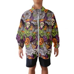 Halloween Pattern Wind Breaker (kids)
