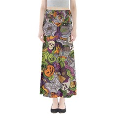 Halloween Pattern Full Length Maxi Skirt