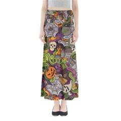 Halloween Pattern Full Length Maxi Skirt