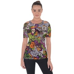 Halloween Pattern Short Sleeve Top