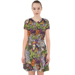 Halloween Pattern Adorable In Chiffon Dress
