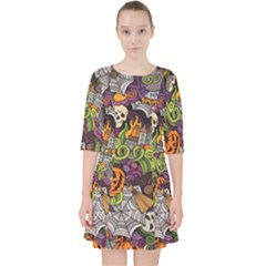 Halloween Pattern Pocket Dress